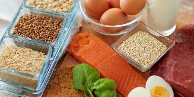 نمونه برنامه غذایی حاوی پروتئین بالا